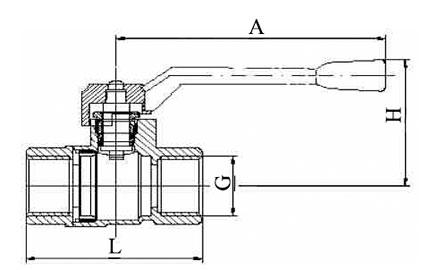 Шаровой латунный кран 22б27п схема