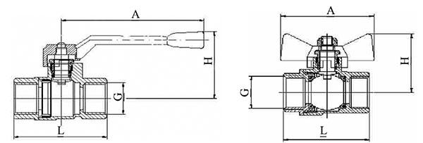 Шаровой латунный кран 22б27п1 схема